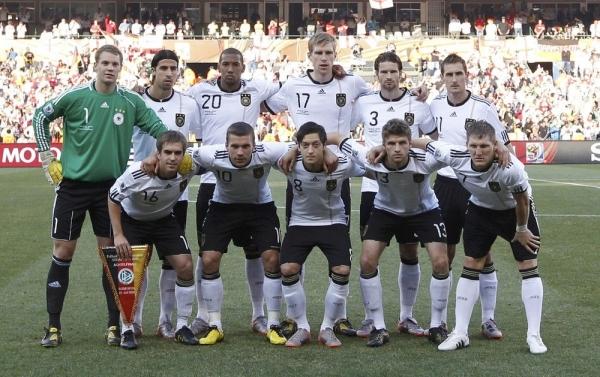 Сборная Германии на чемпионате мира 2010-ого Года в ЮАР