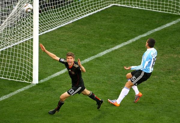 Гол Мюллера в матче с Аргентиной